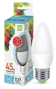 Лампа светодиодная ASD Свеча С37 Е27  5 W (400lm) 4000К пластик/алюм standart