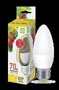 Лампа светодиодная ASD Свеча С37 Е27  7,5 W (600lm) 3000К пластик/алюм standart