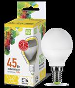 Лампа светодиодная ASD Шар Р45 Е14  5 W (400lm) 3000К пластик/алюм standart