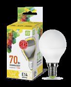 Лампа светодиодная ASD Шар Р45 Е14  7,5 W (600lm) 3000К пластик/алюм standart