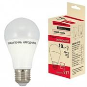 Лампа светодиодная Народная НЛ-LED-А60-10Вт-230 В-3000 К Е27 (60*112)