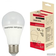 Лампа светодиодная Народная НЛ-LED-А60-12Вт-230 В-3000 К Е27 (60*112)