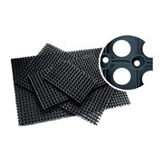 Коврик ячеистый грязесборный RH 40*60см, 16мм, черный