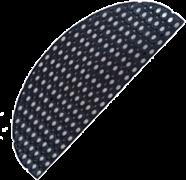 Коврик ячеистый грязесборный RH 45*75см, 16мм, черный ( полукруглый)