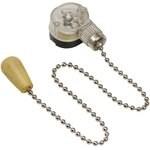 Выключатель для настенного светильника с деревянным наконечником с цепочкой 270мм silver