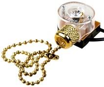 Выключатель для настенного светильника с проводом и деревянным наконечником GOLD