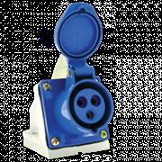 Розетка наружной установки 32А 2Р+Е 220В IР44  ЭКФ (123)