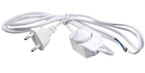 Шнур для бра с диммером (регулятор света) 1,6м белый (индикатор управления)