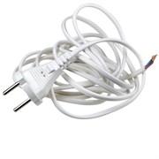 Шнур с электрический вилкой (ШВВП-ВП 2х0.75) 2.2м белый UNIVersal 9632227