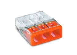 Клемма WAGO 2273-203,  3х(0.5-2.5мм) 3-х проводные для распределительной коробки (без пасты)