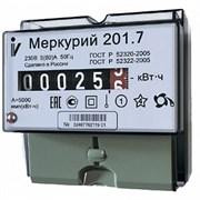 """Счетчик """"Меркурий""""  201,7   1 ф,  5-60А, 1класс. 1 тариф, имп. вых. механическое табло DIN"""