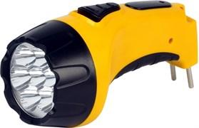 Фонарь Smartbuy ручной SBF-84-Y (акк.4V 0.5Ah) 4 светодиода жёлтый/пластик вилка220V