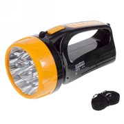 Фонарь ТРОФИ прожектор (акк.4V 1,5Ah) 10 светодиодов  черный/пластик