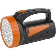 Фонарь ТРОФИ прожектор (акк.4V 1,8Ah) 12 светодиодов + 18 светодиодов  черный/пластик