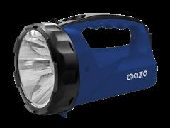 Фонарь-прожектор ФАЗА Ассu F6-L1W-bu/акк.4V 0,4 Ah/ 1светодиод синий/пластик 2 режима ремень з/у 220V
