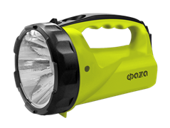 Фонарь-прожектор ФАЗА Ассu F6-L1W-gn/акк.4V 0,4 Ah/ 1светодиод зелён/пластик 2 режима ремень з/у 220V