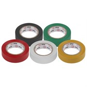 Изолента 15мм*20м, ПВХ белая, синяя, зеленая, красная, желтая
