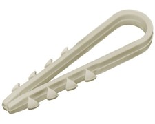 Дюбель-хомут для круглый кабеля 5-10мм нейлон Белый, ТДМ ДХК-10