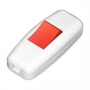Переключатель бра Lezard 6А 250В(АБС-пластик,бело-красный)