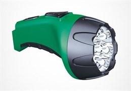 Фонарь Фотон ручной (акк.4V 0,8Ah) 7 светодиод  зеленый/пластик