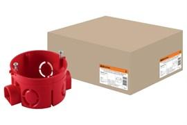 Коробка установочная (подрозетник) для сплошных стен TDM SQ1402-1126, 68х45мм, оранжевая