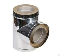 Сэндвич - тройник Нержавеющая сталь + Нержавеющая сталь ( 0.8мм )  диаметр 115*200