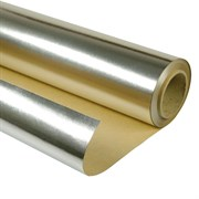 Фольга алюминиевая на бумажной основе ( 18 кв.м ) ширина: 1.2м, длина: 15м