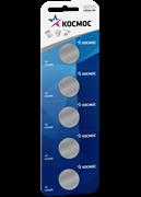 Батарейка Космос CR2016 (5BL, блистер 5шт) цена за 1 шт