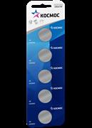 Батарейка Космос CR2032 (5BL, блистер 5шт) цена за 1 шт