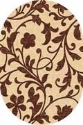 Ковёр коллекции LAGUNA/d184/ 1.0*2.0м OVAL-BEIGE