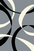 Ковёр коллекции VISION DELUXE /v801/ 1.0*2.0м STAN-GRAY