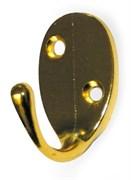 Крючок одинарный овал золото