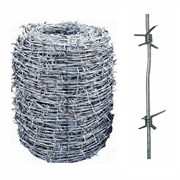 Проволока колючая термически обработанная оцинкованная, диаметр 2.8мм