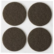 Накладки STAYER COMFORT на мебельные ножки/самоклеящиеся/фетровые/коричневые/круглые d35мм 4шт