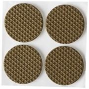 Накладки STAYER COMFORT на мебельные ножки/самоклеящиеся/ЭВА/коричневые/круглые d35мм 4шт