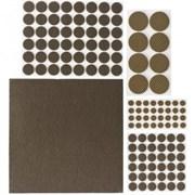 Накладки STAYER COMFORT НАБОР на мебельные ножки/самоклеящиеся/коричневые/ 125шт