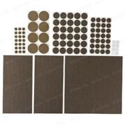 Накладки STAYER COMFORT НАБОР на мебельные ножки/самоклеящиеся/коричневые/ 98шт