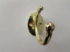 Крючок одежный 2-х рожковый 'Месяц' золото