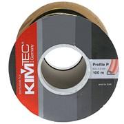 Уплотнитель KIM TEC для окон и дверей, профиль Р, Черный, 9x5.5мм, самоклеящийся (на метраж)