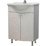 Тумба для ванной комнаты Бергамо 60 (Элегия 60), без умывальника, белый