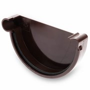 Заглушка для желоба водосточного ПВХ 200мм, RAL 8017 коричневая, правая