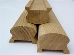 Поручень (перила) для лестницы из массива дуб, сорт Экстра, срощенный, 440x650x3000мм