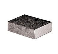 Губка шлифовальная FIT двухсторонняя, алюминий-оксидная, 100x70x25мм, средняя жесткость Р60/Р60, водостойкая