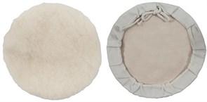 Чехол полировочный FIT, на завязках, натуральная шерсть, на кожаной основе, 125мм