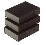 Набор двухсторонних абразивных шлифовальных губок, 100x70x25мм, мягкая жесткость Р60/80, Р60/100, Р80/120,  в комплекте 3 шт