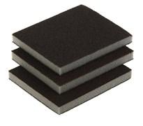 Набор двухсторонних абразивных шлифовальных губок, 125x100x10мм, мягкая жесткость Р60/80, Р60/100, Р80/120,  в комплекте 3 шт