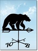 """Флюгер металлический """"Медведь"""", 740x355мм"""