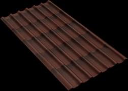 Черепица Ондулин 1.95x0.95м, 6-волновой, коричневый
