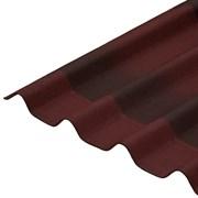 Черепица Ондулин 1.95x0.95м, 6-волновой, красный