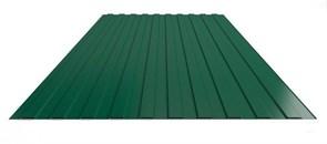 Профнастил/профиль листовой, стальной, С-8, 1.2x2м, толщина 0.35мм, окрашенный Зеленый RAL 6005
